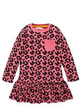 TODDLER GIRLS SINGLE ESSENTIALS ANIMAL PRINT DRESS