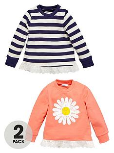 ladybird-girls-daisy-and-stripe-frill-sweaters-2-pack-12-months-7-years