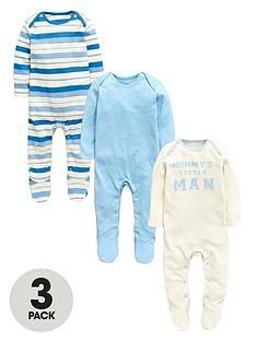 ladybird-boys-sleepsuitsnbsp3-pack