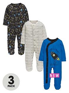 ladybird-baby-boys-space-sleepsuits-3-pack