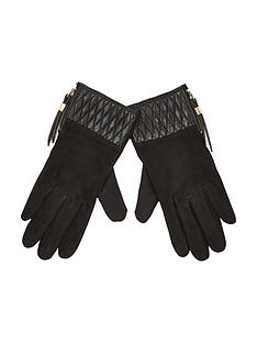 river-island-suede-mix-gloves
