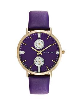 ted-baker-ted-baker-multifunction-purple-dial-rose-gold-case-with-purple-leather-strap-ladies-watch