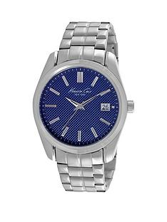 kenneth-cole-kenneth-cole-blue-dial-silver-colour-brass-case-stainless-steel-silver-bracelet-mens-watch