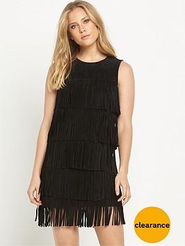 samantha-faiers-suede-fringe-dress