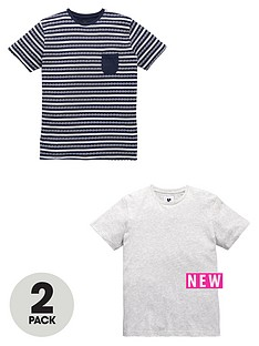 v-by-very-crew-neck-print-and-stripe-2-pack-of-t-shirts