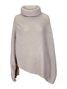 ribbed-cowl-neck-poncho
