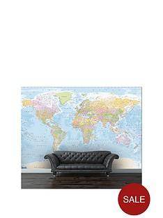1wall-blue-world-map-mural