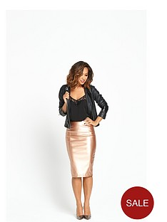 myleene-klass-metallic-pencil-skirt