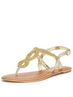 v-by-very-arundalnbspembellished-flat-toe-post-sandal-nbsp