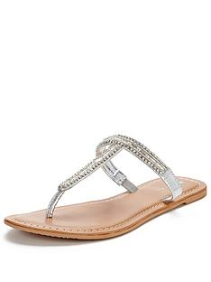 v-by-very-milly-jewel-t-bar-toepost-sandal-silver