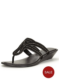 v-by-very-miley-embellished-wedge-flat-sandal-toe-post