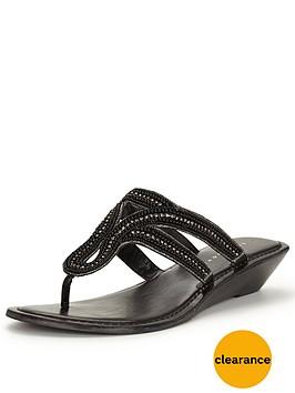 v-by-very-miley-embellished-wedge-flat-sandal-toe-post