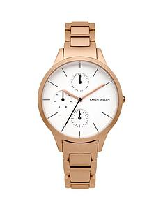 karen-millen-multifunction-white-dial-rose-gold-tone-bracelet-ladies-watch
