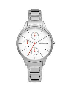 karen-millen-karen-millen-multifunction-white-dial-silver-tone-stainless-steel-bracelet-ladies-watch