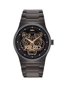kenzo-kenzo-tiger-head-black-dial-black-stainless-steel-bracelet-ladies-watch