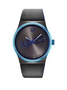 kenzo-kenzo-dix-huit-gun-dial-black-leather-strap-mens-watch