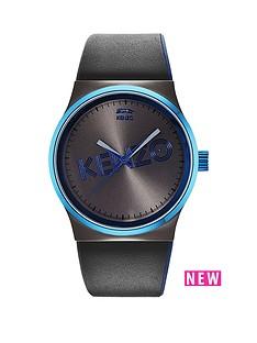 kenzo-kenzo-dix-huit-gun-dial-black-leather-strap-mens-watch