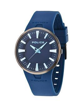 Police Police Dakar Blue Gun Dial Blue Rubber Strap Mens Watch