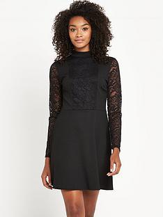 v-by-very-lace-high-neck-skater-dress