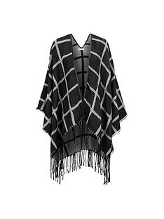 miss-selfridge-grid-check-cape