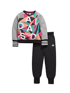 adidas-adidas-little-girl-crew-neck-top-and-pant-set