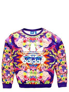 adidas-originals-girls-floral-sweatshirt