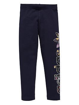 adidas-originals-girls-floral-logo-leggings