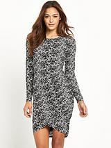 Bodycon Dress With Wrap Front