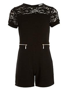 river-island-girls-black-ribbed-lace-playsuit