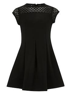river-island-girls-black-lace-neck-skater-dress