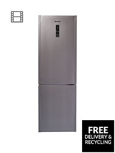 hoover-hf18xk-wifi-60cm-frost-free-wizard-wifi-fridge-freezer-stainless-steel