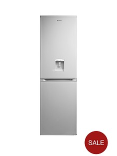 candy-ccbf5182awk-185-x-55cm-frost-free-fridge-freezer-with-water-dispenser-silver