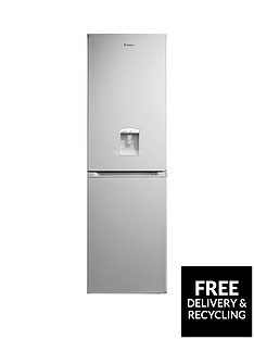 Candy CCBF5182AWK 55cm Frost Free Fridge Freezer with Water Dispenser - Silver