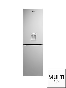 candy-ccbf5182awk-55cm-frost-free-fridge-freezer-with-water-dispenser-silver