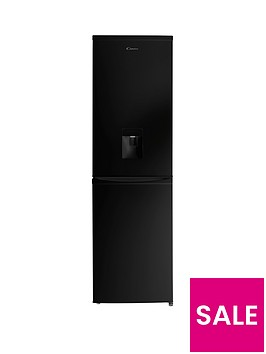 candy-ccbf5182bwknbsp55cmnbspfrost-free-fridge-freezer-with-water-dispenser-black