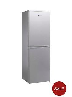 hoover-hsc17155se-175-x-55cm-freestanding-fridge-freezer-silver