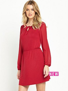 south-chiffon-sleeve-jersey-tea-dress