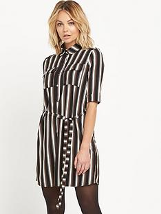 miss-selfridge-striped-sleeve-shirt-dress