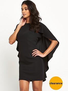 miss-selfridge-black-cape-dress