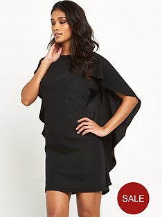 miss-selfridge-miss-selfridge-black-cape-dress