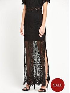 miss-selfridge-black-lace-maxi-skirt