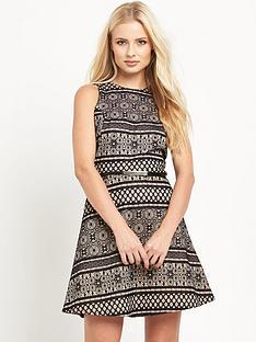 miss-selfridge-lace-skater-dress