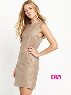 miss-selfridge-snake-pu-dress