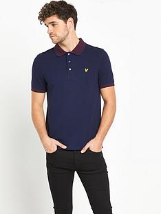lyle-scott-fairisle-collar-polo-shirt