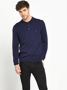 lyle-scott-knitted-long-sleeve-polo-shirt