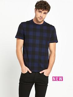 lyle-scott-block-check-t-shirt