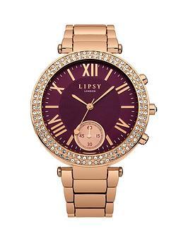 lipsy-burgundy-dial-rose-gold-tone-metal-bracelet-ladies-watch
