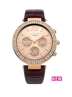 lipsy-lipsy-multi-look-champagne-dial-berry-pu-strap-ladies-watch