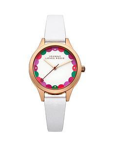johnny-loves-rosie-johnny-loves-rosie-white-dial-white-pu-strap-ladies-watch