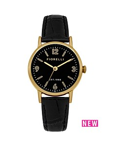 fiorelli-black-dial-gold-coloured-case-with-black-leather-strap-ladies-watch